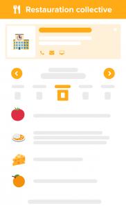 Information des usagers sur les menus des cantines